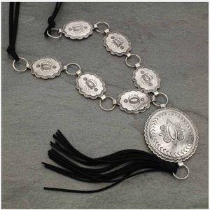 Concho Tassel Necklace Set